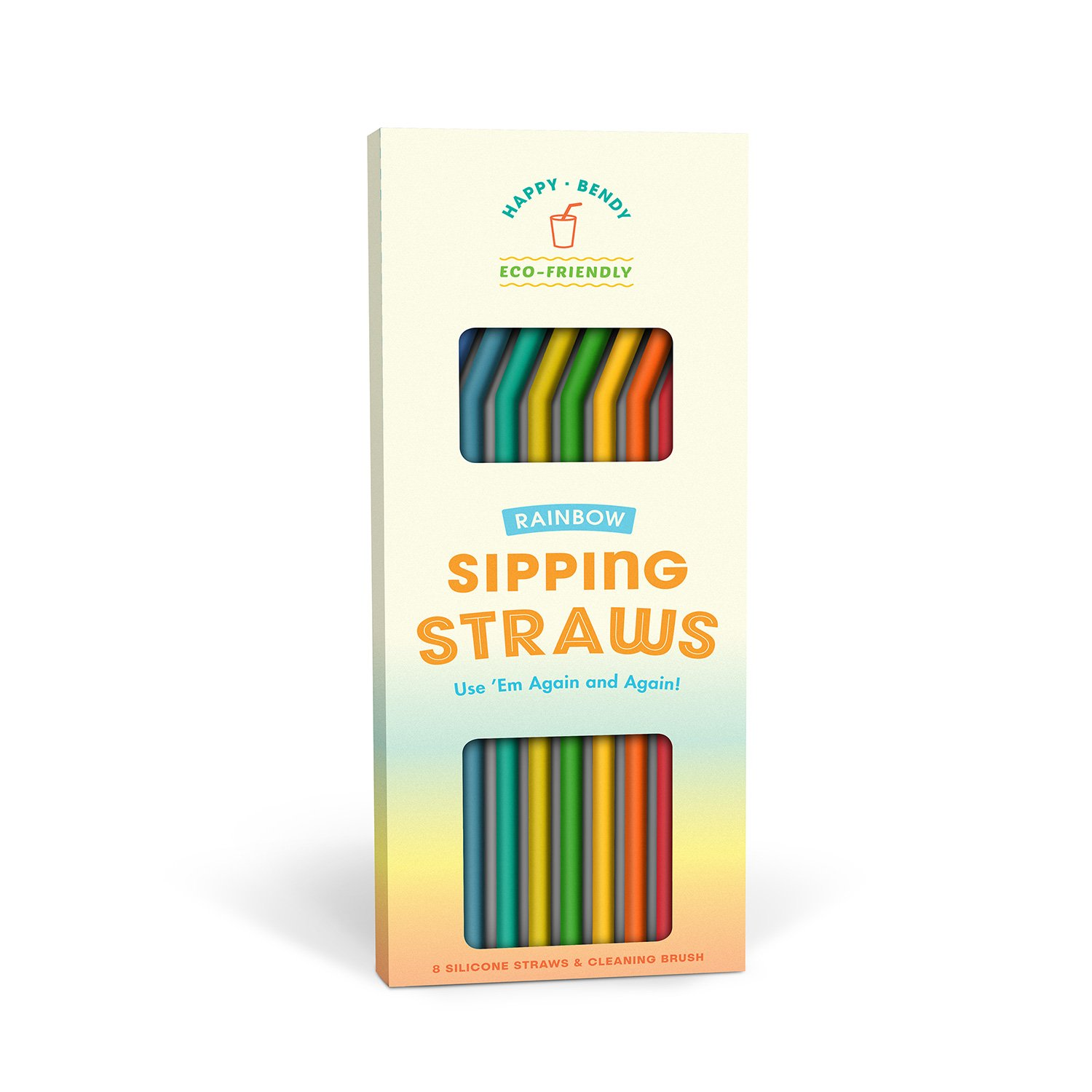 Reusable Sipping Straws: Rainbow