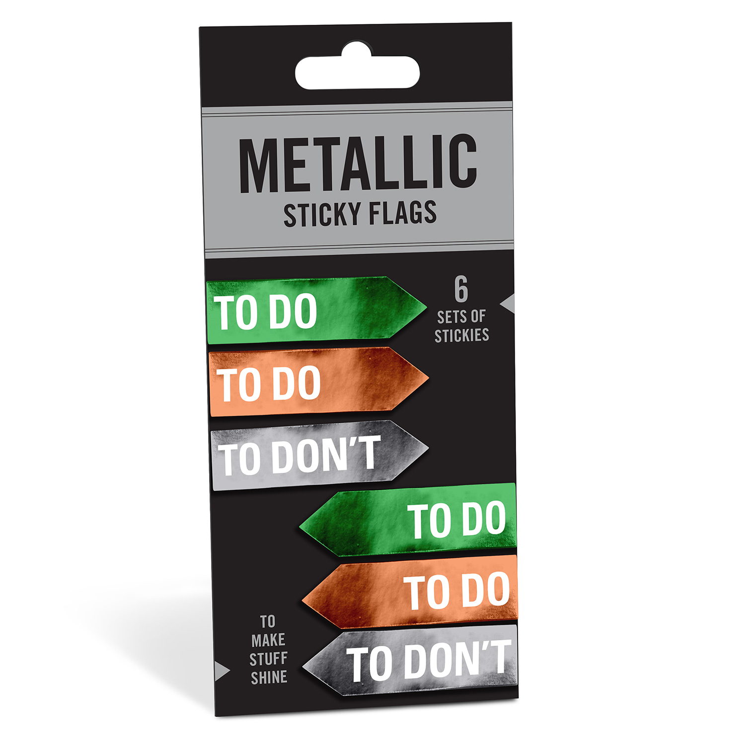 Metallic Sticky Note Flags: To/To Don't