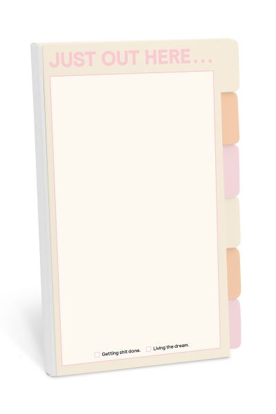 Tabbed Sticky Note Folio: Just Out Here