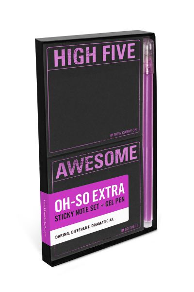 Sticky Note Sets with Gel Pen: High Five / Awesome