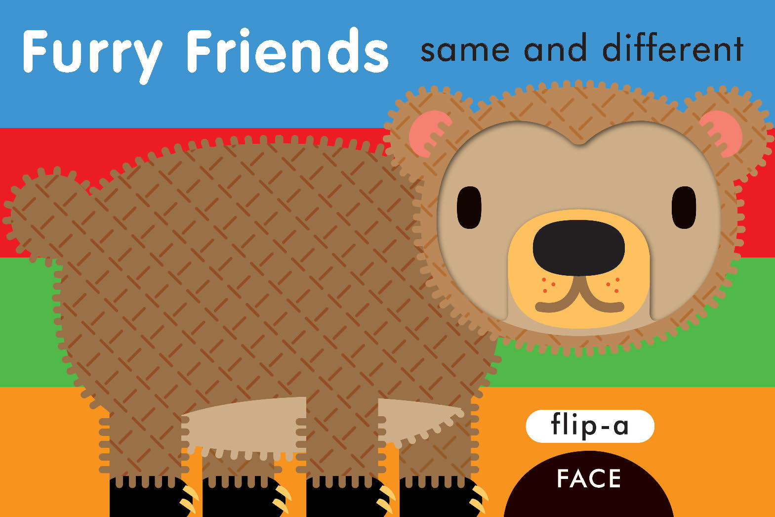 Flip-a-Face Furry Friends: Same and Different