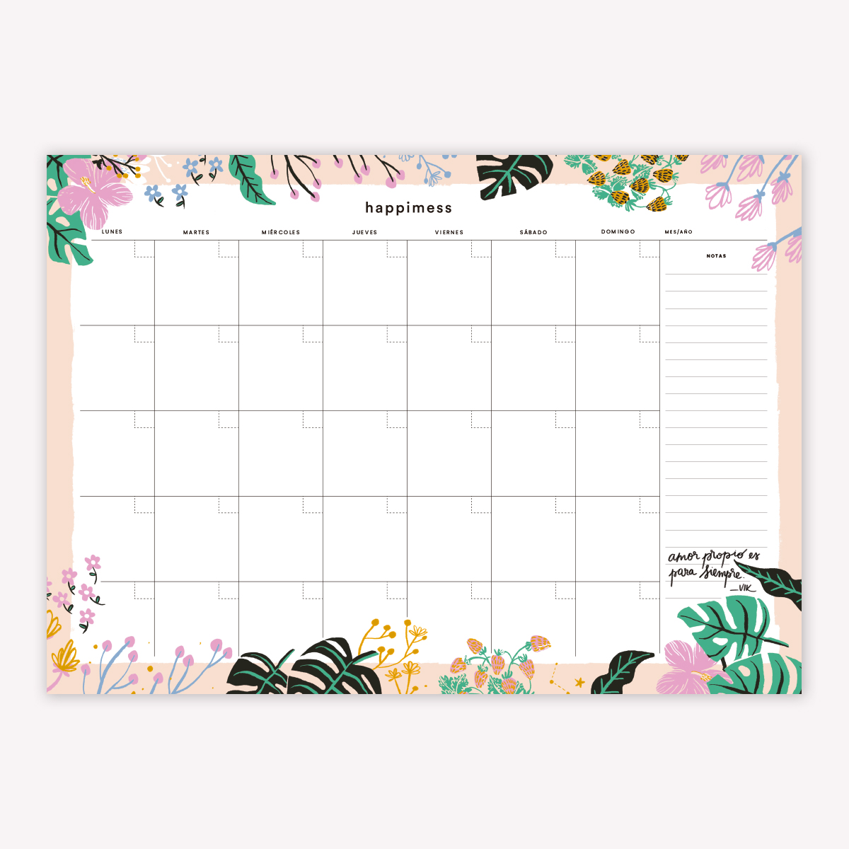 Desk Planner Monthly: Believe
