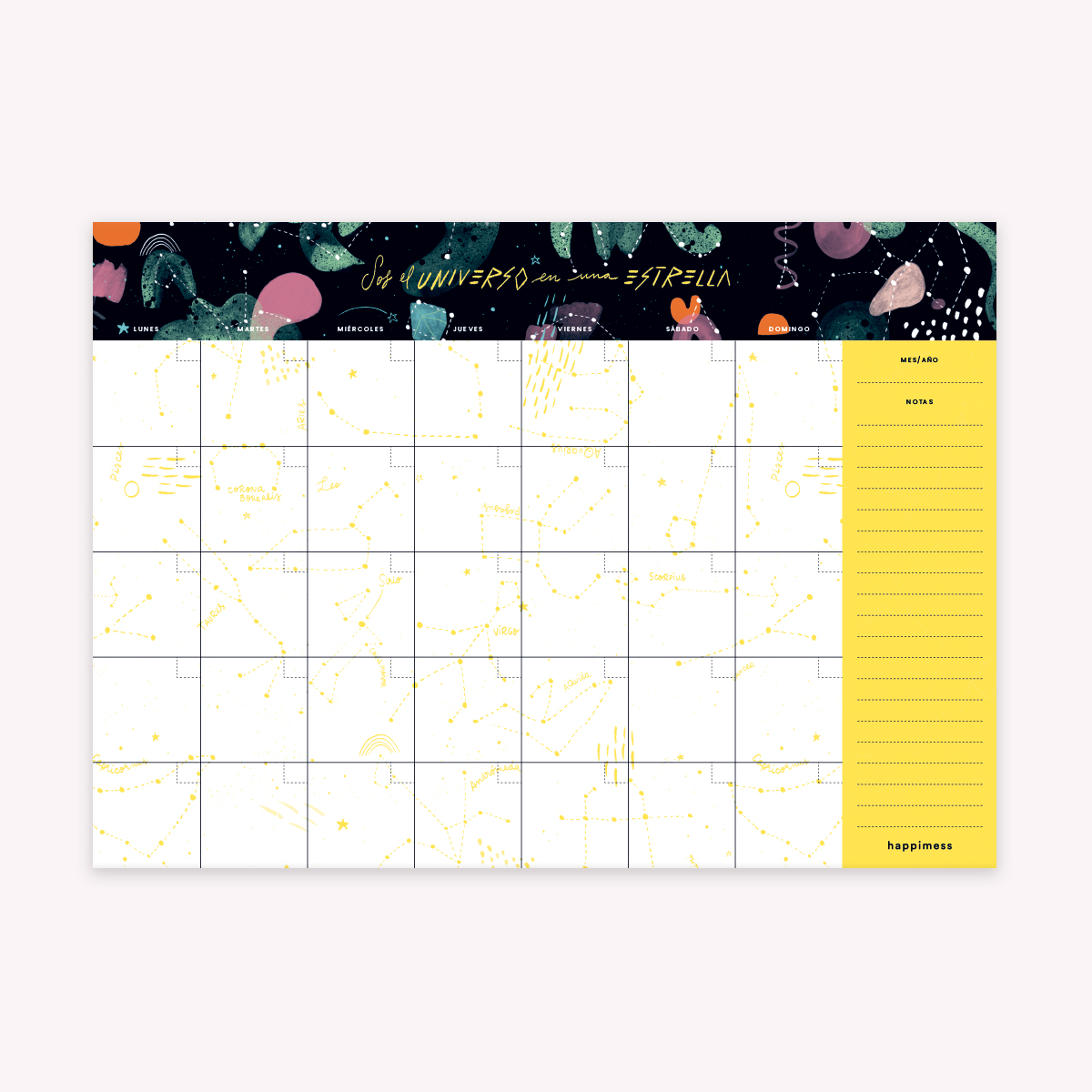 Desk Planner Monthly: the Universe