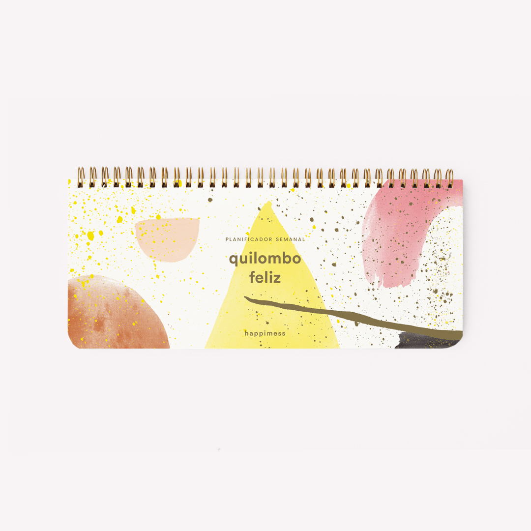 Desk Planner Weekly Ringed: Happimess